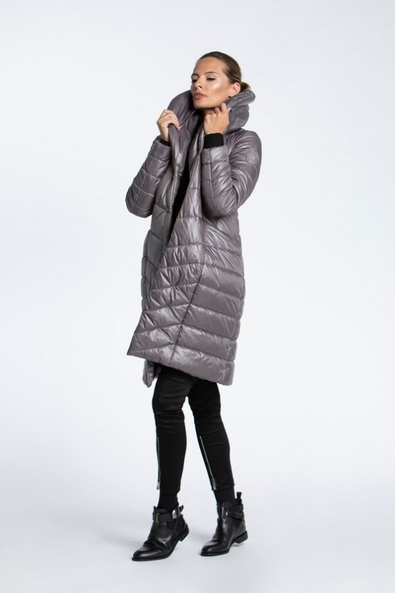 PADDED COAT WITH SHAWL COLLAR